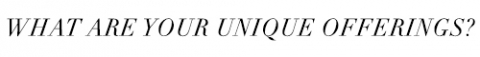 UNIQUEOFFERINGS