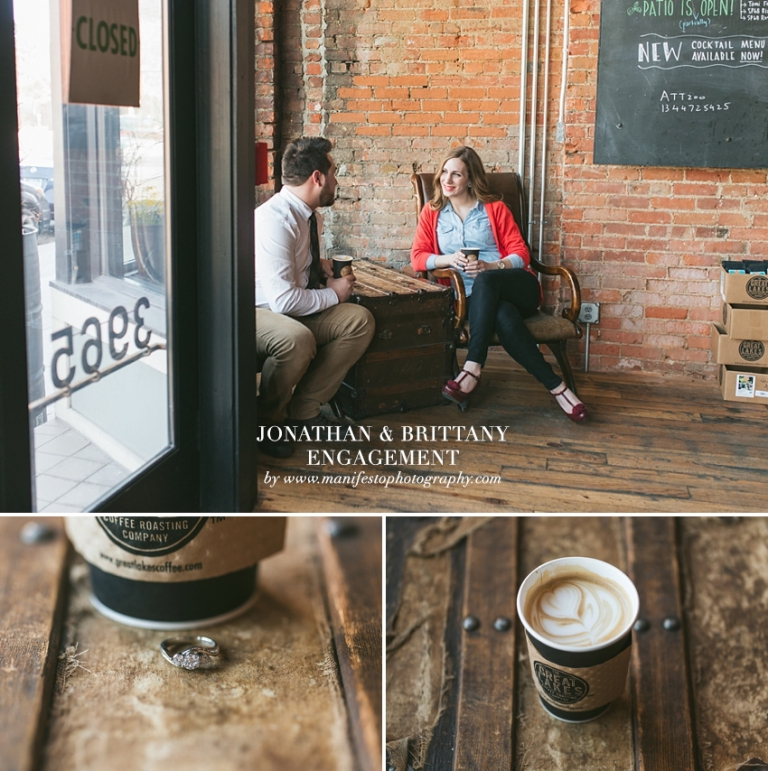 Manifesto Photography | Engagement | Detroit | Great Lakes Coffee