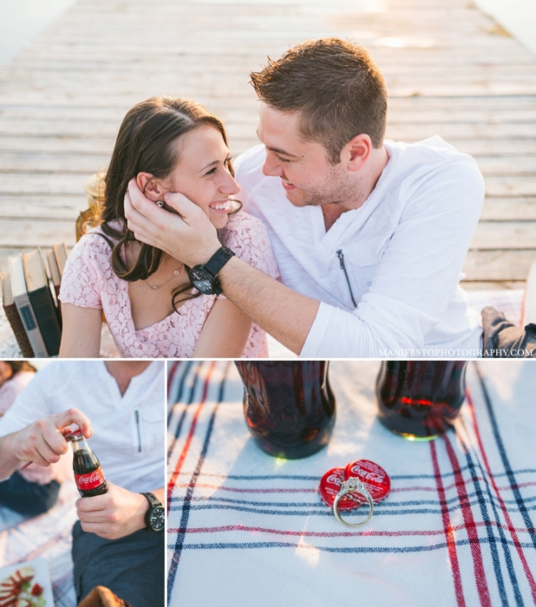 Manifesto Photography | Windsor Wedding Photographers | Joshua and Arica Klassen | LaSalle | #picnic #dock #water #engagement