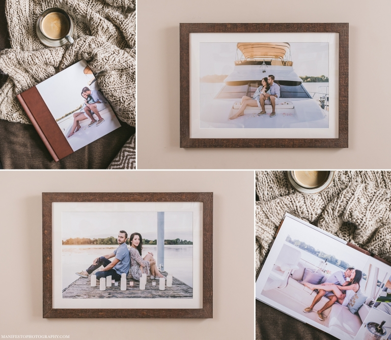Press Printed Engagement Album & Reclaimed wood Framed Prints