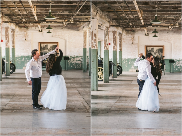 Windsor Ontario Engagement Photographer Manifesto Photography Detroit Engagement Session Ford Piquette Avenue Plant